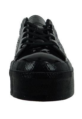Converse Chucks Schwarz 562604C One Star Platform OX Lack Plateau - Black Black – Bild 5