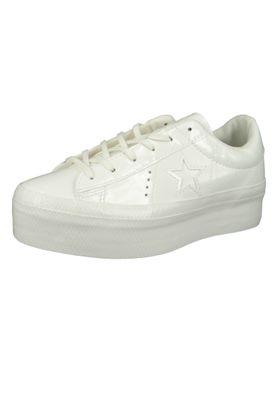 Converse Chucks Weiss 562605C One Star Platform OX Lack Plateau - Vintage White – Bild 1