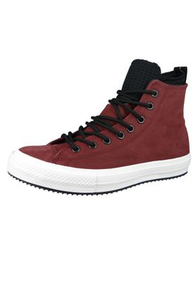 Converse Chucks 162410C Weinrot Leder Chuck Taylor All Star WP Boot HI Dark Burgundy Black – Bild 2