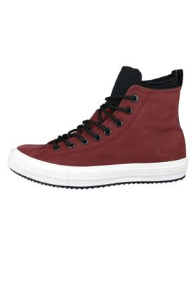 Converse Chucks 162410C Weinrot Leder Chuck Taylor All Star WP Boot HI Dark Burgundy Black – Bild 3