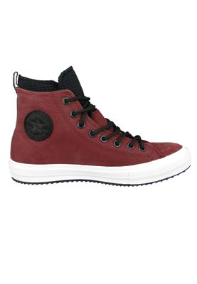 Converse Chucks 162410C Weinrot Leder Chuck Taylor All Star WP Boot HI Dark Burgundy Black – Bild 5