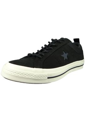 Converse Chucks 162545C Schwarz Leder One Star OX Black Almost Black – Bild 1