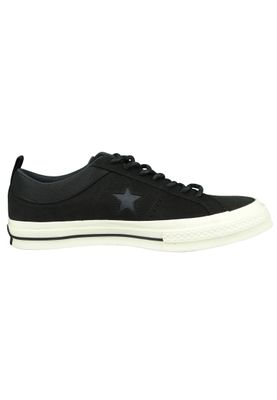 Converse Chucks 162545C Schwarz Leder One Star OX Black Almost Black – Bild 4