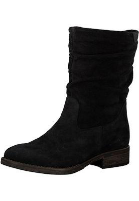 Tamaris 1-25472-21 001 Damen Black Schwarz Leder Stiefel – Bild 1