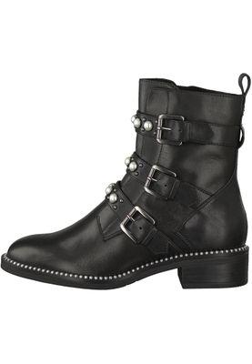 Tamaris 1-25396-21 001 Damen Black Schwarz Leder Stiefelette – Bild 4