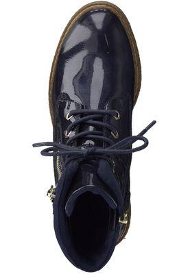 Tamaris Trend 1-25223-21 831 Damen Pacific Patent Dunkelblau Stiefelette mit TOUCH-IT Sohle – Bild 6