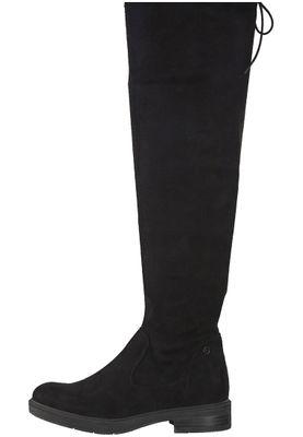 Tamaris 1-25506-21 001 Damen Black Schwarz Stiefel Langschaftstiefel mit TOUCH-IT Sohle und Stretch Schaft – Bild 3