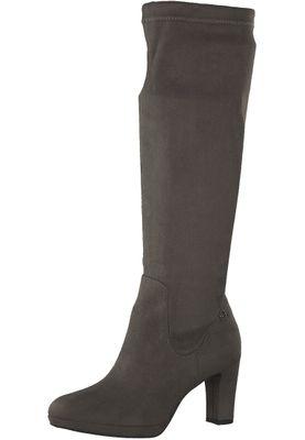 Tamaris 1-25522-21 206 Damen Graphite Grau Stiefel Langschaftstiefel mit TOUCH-IT Sohle und Stretch Schaft – Bild 1