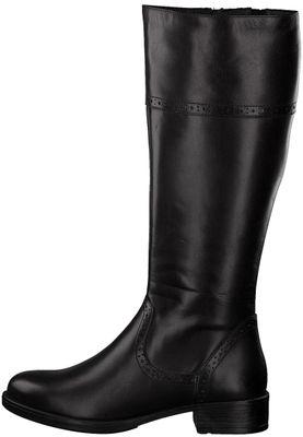 Tamaris 1-25547-21 001 Damen Black Schwarz Leder Stiefel – Bild 3