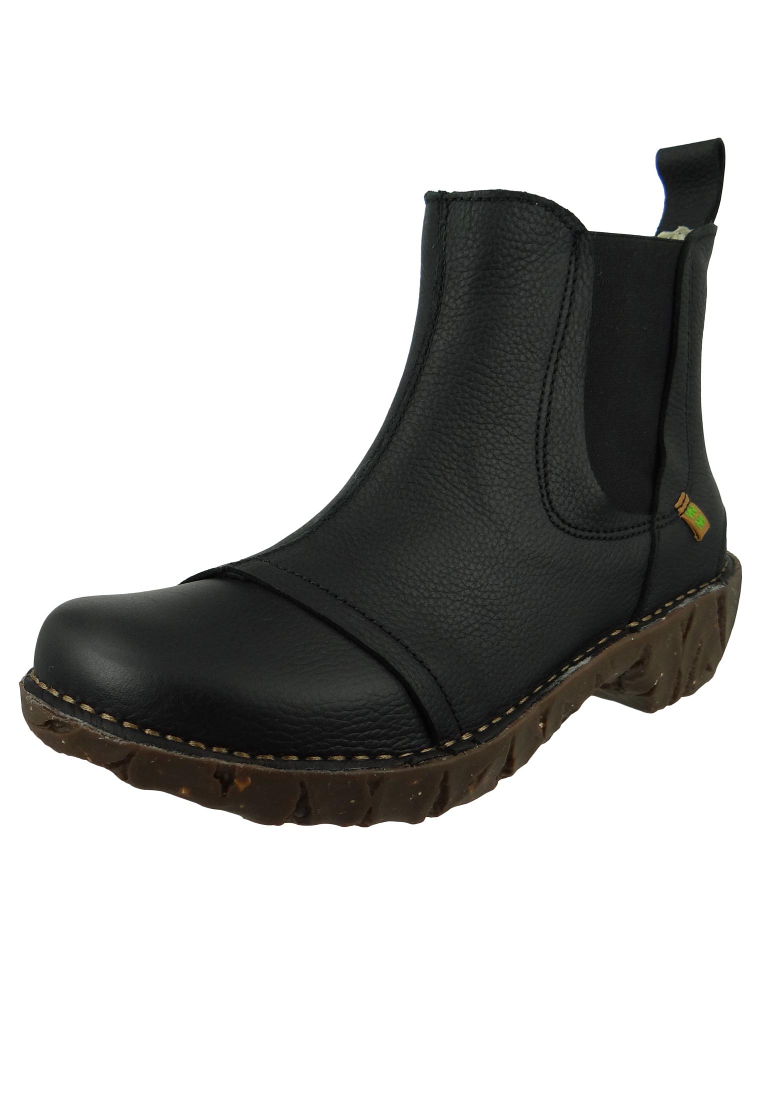 7d456061817193 El Naturalista Schuhe Damen Stiefelette N158 YGGDRASIL Black Schwarz ...