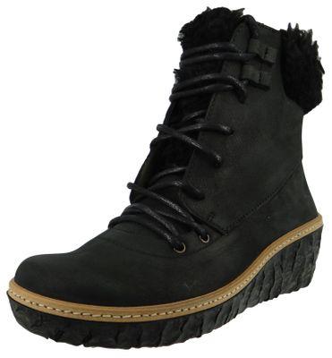 El Naturalista Shoes Women Wedge Ankle Boots N5139 MYTH YGGDRASIL Black Black – Bild 1