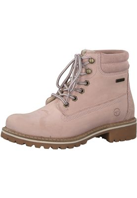 Tamaris 1-26244-21 644 Damen Light Pink Rosa Schnürstiefelette Lace-Up Boots mit Warmfutter – Bild 1