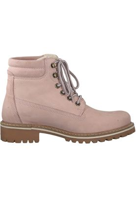 Tamaris 1-26244-21 644 Damen Light Pink Rosa Schnürstiefelette Lace-Up Boots mit Warmfutter – Bild 2