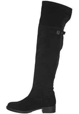 Tamaris 1-25811-21 001 Damen Black Schwarz Leder Langschaftstiefel – Bild 3