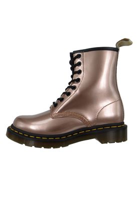 Dr. Martens 1460 24865716 Damen Vegan Rose Gold Chrome Paint Metallic Rosa 8-Loch – Bild 2
