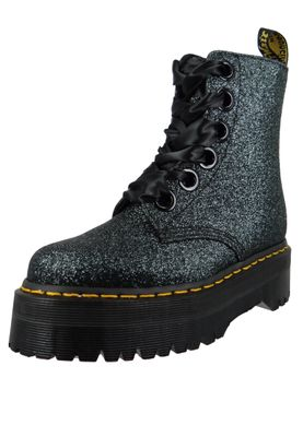 Dr. Martens Quad Retro Molly Glitter 24859300 Damen Green Black Grün Schwarz Ankle Boot – Bild 2