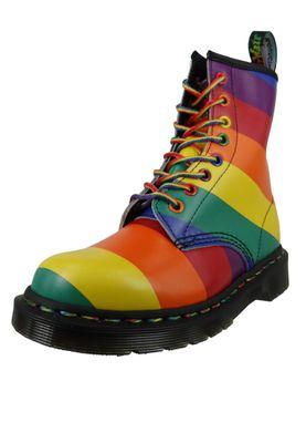 Dr. Martens 1460 24877102 Damen Pride Backhand Multi Rainbow Mehrfarbig 8-Loch – Bild 1