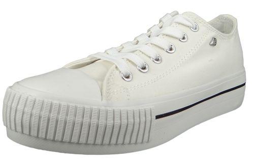 British Knights BK Sneaker B43-3726-01 Damen Master-Platform Canvas White Weiss – Bild 1