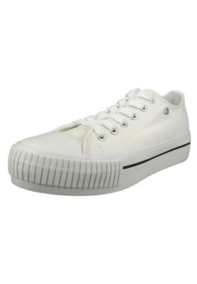 British Knights BK Sneaker B43-3726-01 Damen Master-Platform Canvas White Weiss – Bild 1