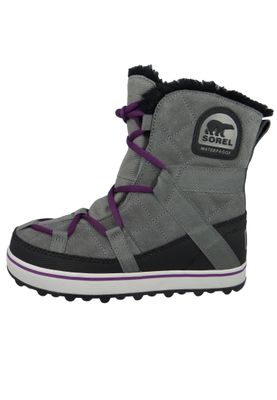 Sorel Damen Winterstiefel Boot NL2079-053 GLACY EXPLORER SHORTIE Gefüttert Quarry Grau – Bild 3