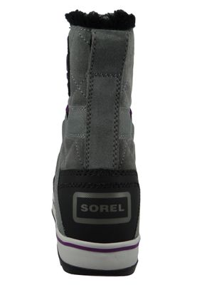 Sorel Damen Winterstiefel Boot NL2079-053 GLACY EXPLORER SHORTIE Gefüttert Quarry Grau – Bild 6