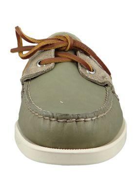 Sebago 70014M0 946 Docksides Portland Winch Herren Bootsschuhe Green Sage Olive Grau – Bild 5