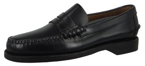 Sebago 7000300 902 Classic Dan Herren Leder Slipper Loafer Bootsschuhe Black Schwarz – Bild 1