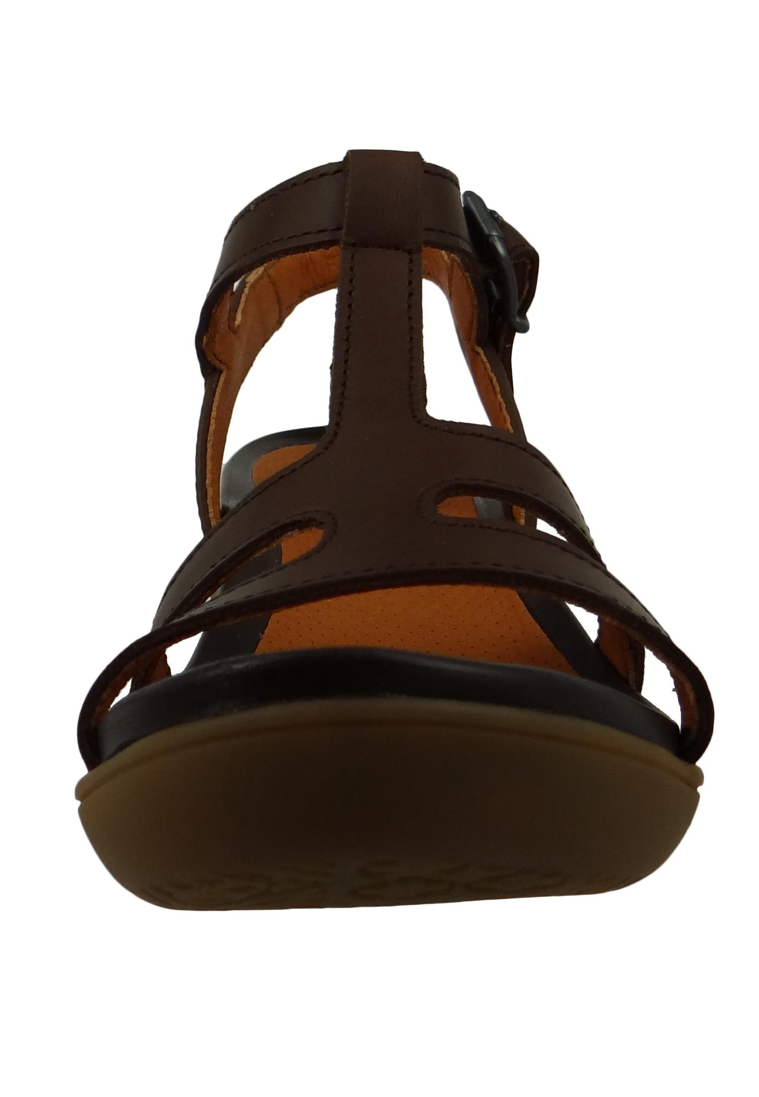 Art 1473 Alfama Damen Leder Sandale Platform Heels Brown Braun