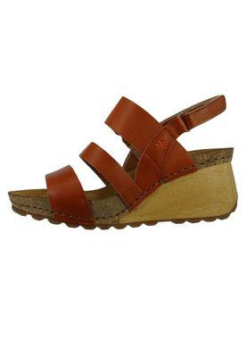 Art 1320 Borne Damen Leder Keil Sandale Pumps Cuero Braun – Bild 2