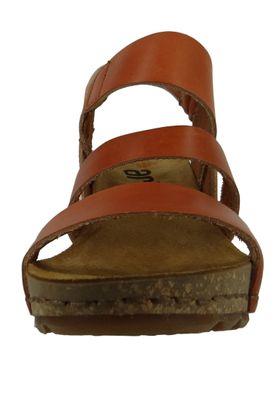 Art 1320 Borne Damen Leder Keil Sandale Pumps Cuero Braun – Bild 5