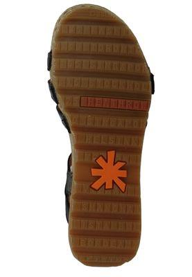 Art 1327 Borne Damen Leder Keil Sandale Pumps Black Schwarz – Bild 6