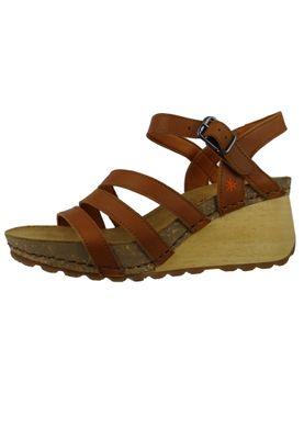 Art 1327 Borne Damen Leder Keil Sandale Pumps Cuero Braun – Bild 2