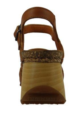 Art 1327 Borne Damen Leder Keil Sandale Pumps Cuero Braun – Bild 3