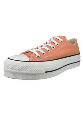 Converse Chucks Plateau Pink 563495C Chuck Taylor All Star Lift - OX Desert Peach White Black