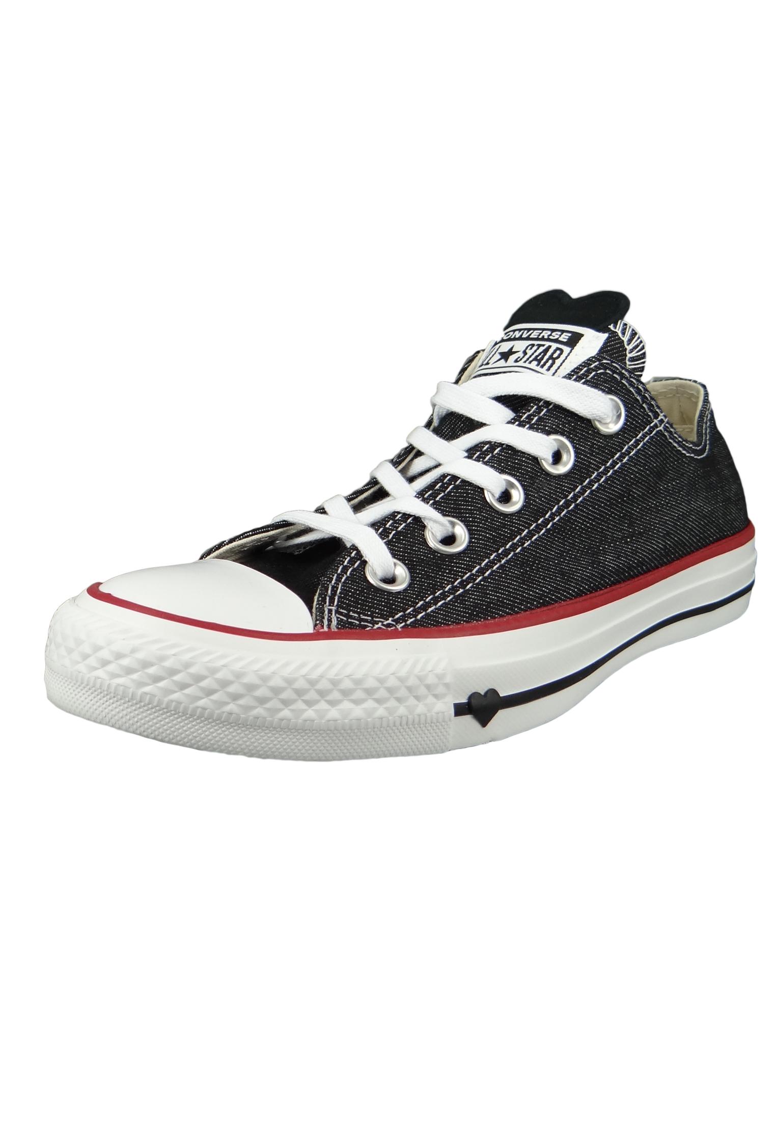 Converse Chucks 163309C Anthrazit Chuck Taylor All Star OX Black White Garnet