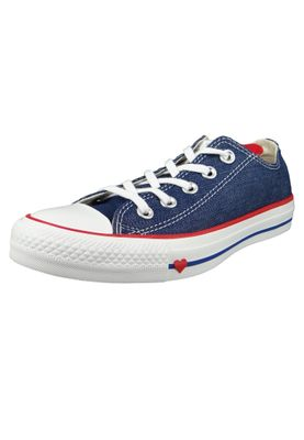Converse Chucks 163308C Blau Chuck Taylor All Star OX Indigo Enamel Red White – Bild 1