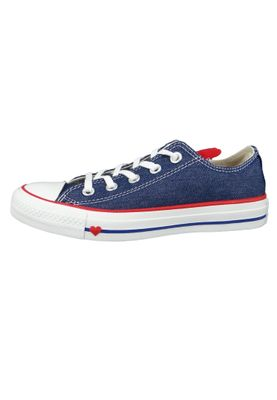 Converse Chucks 163308C Blau Chuck Taylor All Star OX Indigo Enamel Red White – Bild 2