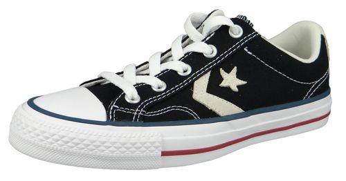 Converse Chucks 144145C Black Star Player OX Black Milk – Bild 1