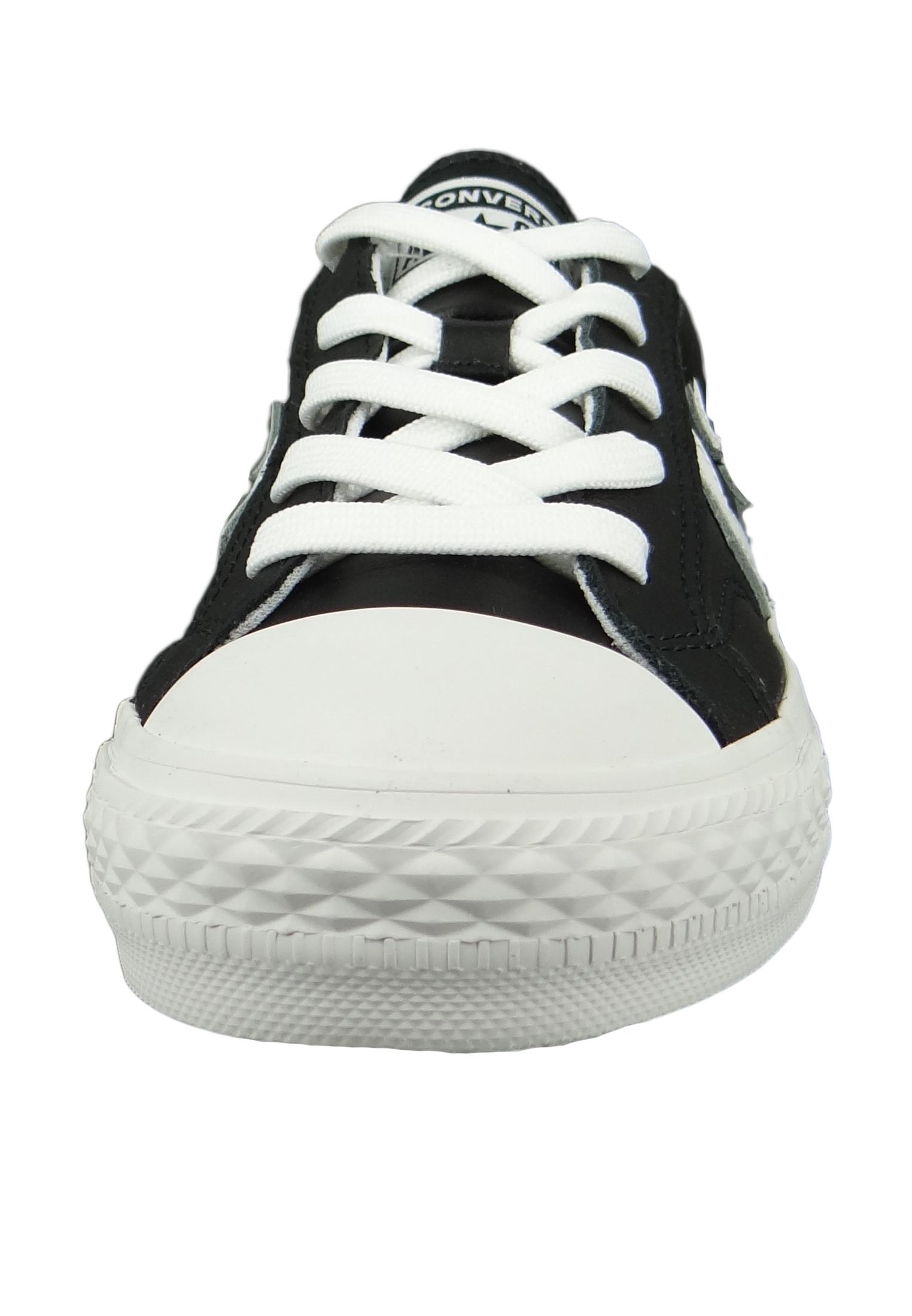 Converse Chucks 159780C Schwarz Star Player OX Leder Black White White