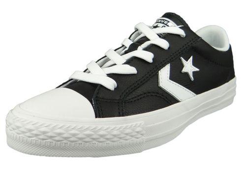 Converse Chucks 159780C Black Star Player OX Leather Black White White – Bild 1