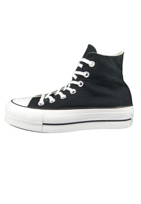 Converse Chucks Plateau Black 560845C Chuck Taylor All Star Lift - HI Black White White – Bild 2