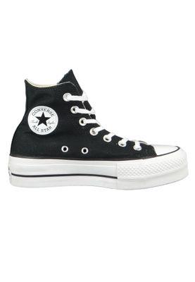 Converse Chucks Plateau Black 560845C Chuck Taylor All Star Lift - HI Black White White – Bild 4
