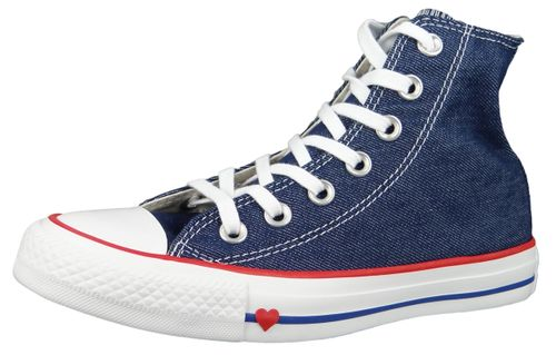 Converse Chucks 163303C Blau Chuck Taylor All Star HI Indigo Enamel Red Blue – Bild 1