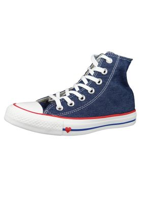 Converse Chucks 163303C Blau Chuck Taylor All Star HI Indigo Enamel Red Blue – Bild 1