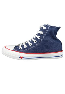 Converse Chucks 163303C Blau Chuck Taylor All Star HI Indigo Enamel Red Blue – Bild 2