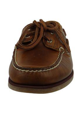 Timberland A232X Classic 2 Eye Boat Shoe Herren Bootsschuhe Sahara Braun – Bild 5