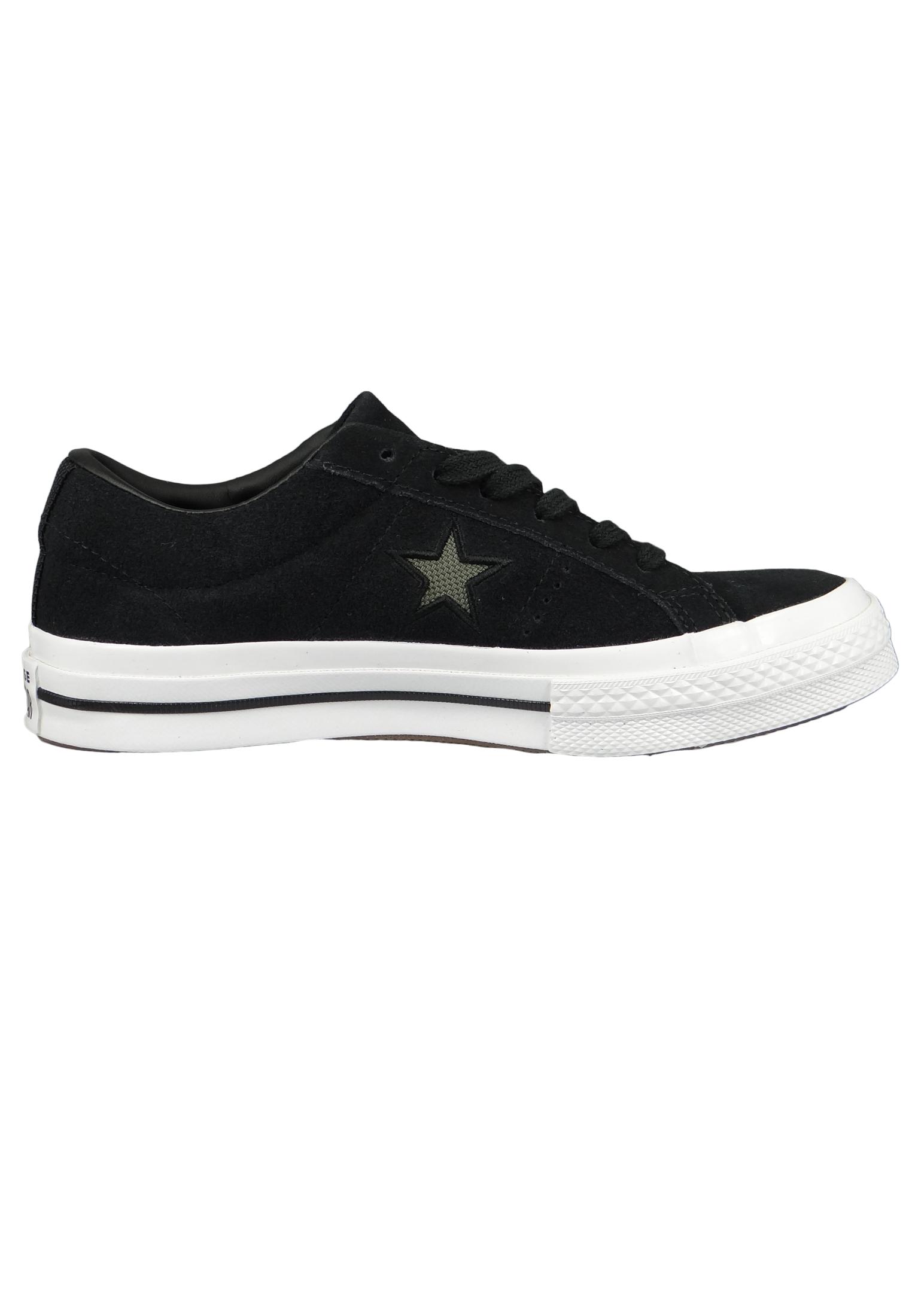 Converse Chucks 163383C Schwarz One Star OX Black Field