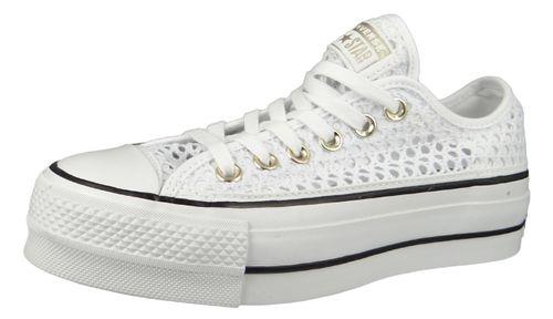Converse Chucks White 564873C Chuck Taylor All Star Lift - OX White Black – Bild 1