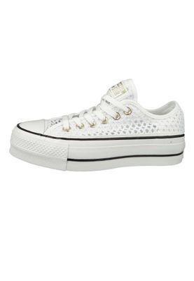 Converse Chucks White 564873C Chuck Taylor All Star Lift - OX White Black – Bild 3