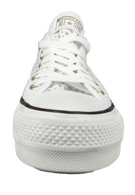 Converse Chucks White 564873C Chuck Taylor All Star Lift - OX White Black – Bild 4